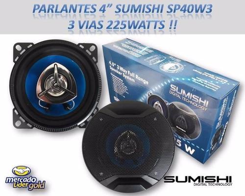 medios 4in   sumishi sp40w3 - 3 vías - 225watts !! oferta !!