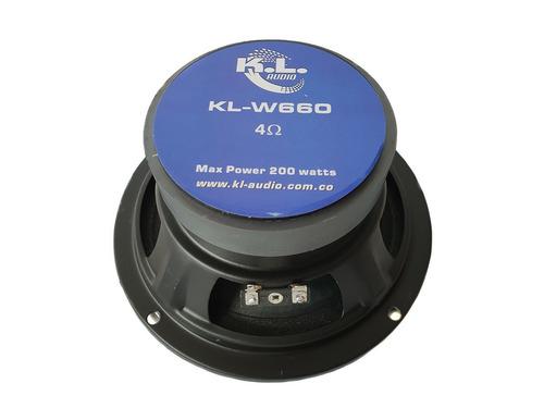 medios kl audio w660 de 6 pulgadas nuevos precio par