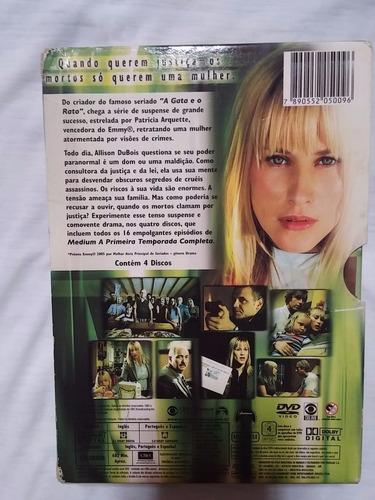 medium - box dvd raro!!!! 1ª temporada  (04 discos)