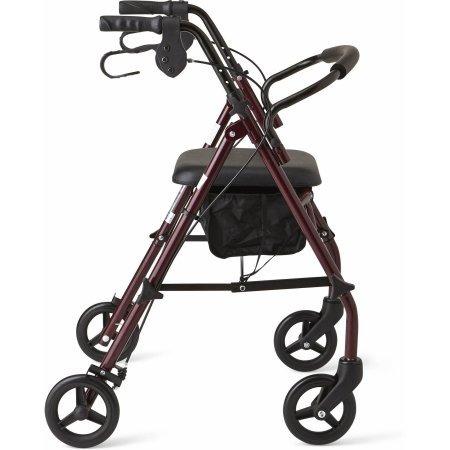 medline acero andador caminador, borgoña, 350 libras de capa