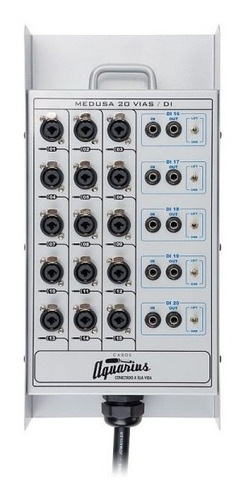 medusa 20 vias xlr com 5 direct box - 20m