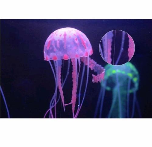 meduzas fluorescentes acuari0