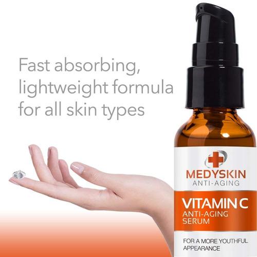 medyskin vitamin c serum antiedad de 1 oz anti arrugas y ...
