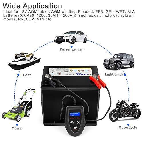 meearo - comprobador digital de carga de bateria para automo