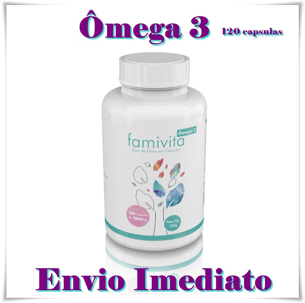 eafbc665305 ômega 3 anti-inflamatório 120 cápsulas 1000mg famivita. Carregando zoom.