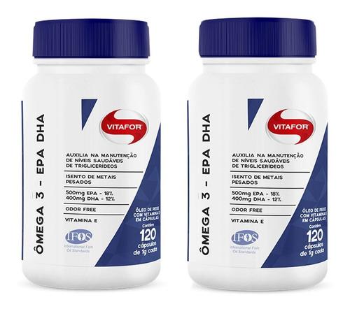ômega 3 epa/dha - 2x 120 cápsulas - vitafor