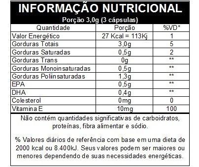 ômega 3 epa/dha - 60 cápsulas - vitafor