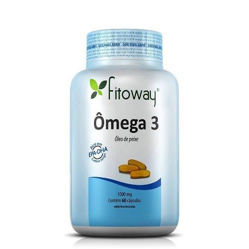 ômega 3 óleo de peixe 1000mg - fitoway - 60 cápsulas
