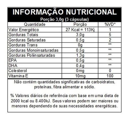 ômega 3 - omegafor 120 cápsulas 1g vitafor - envio imediato
