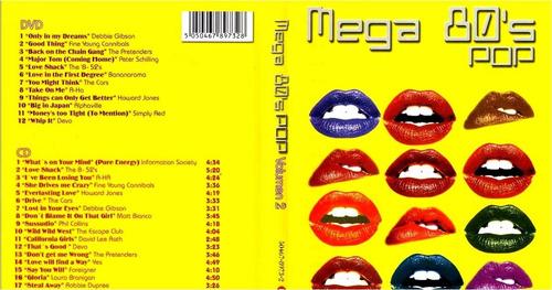 mega 80's  pop  dvd + cd   cars, alphaville, devo,  sellado