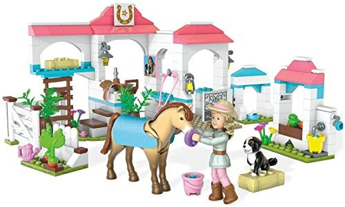 mega bloks american girl nicki's horse stables construc