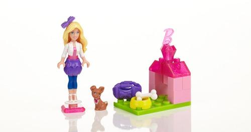 mega bloks barbie  construye con estilo set de 4