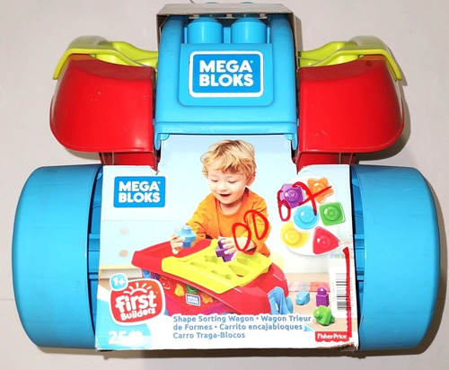 mega bloks fisher price full  carrito bloques, montable