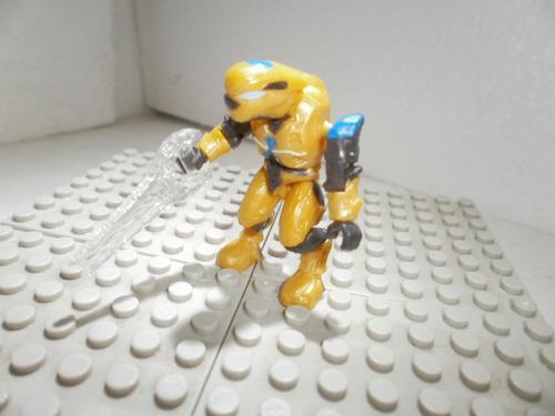 mega bloks  halo covenant elite pilot amarillo