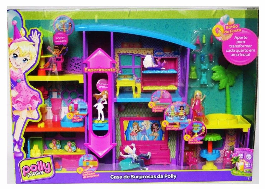 Mega Casa De Surpresas Da Polly Pocket Dnb25 - R$ 369,00 ...