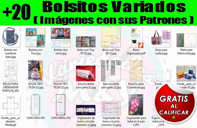 Mega Colección Revistas Patrones Moldes Bolsos Carteras Y + - Bs. 40 ...