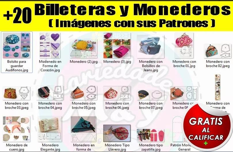 Mega Colección Revistas Patrones Moldes Bolsos Carteras Y + - $ 45 ...