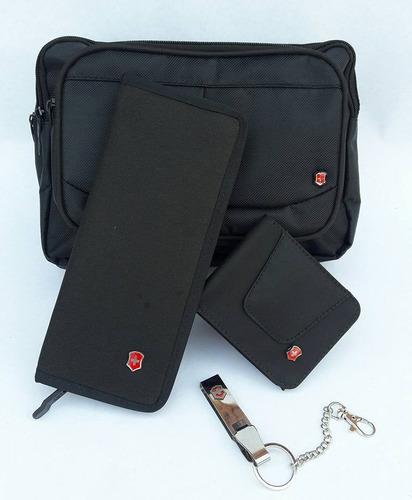 mega combo victorinox incluye bolso cartera chequera llavero