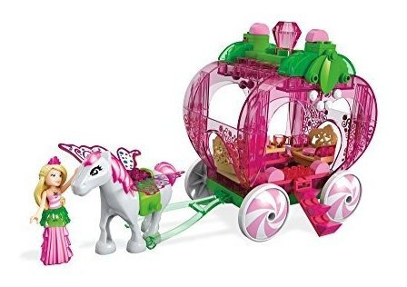 mega construx barbie dreamtopia strawberry carriage