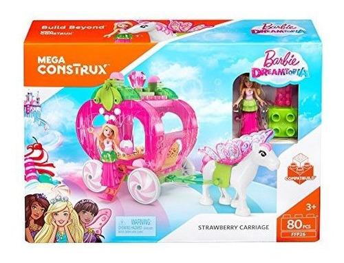 mega construx barbie dreamtopia strawberry carriage