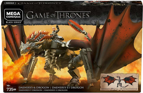 mega construx game of thrones daenerys & drogon