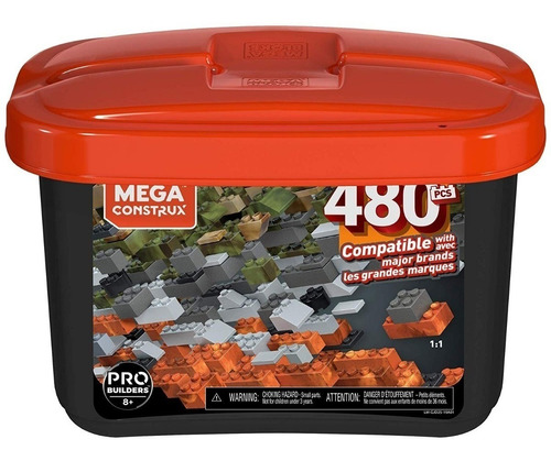 mega construx gran caja construcción core 480pcs gjd25 8+