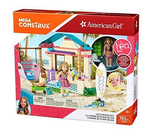 mega construx niña americana leas beach hut edificio set