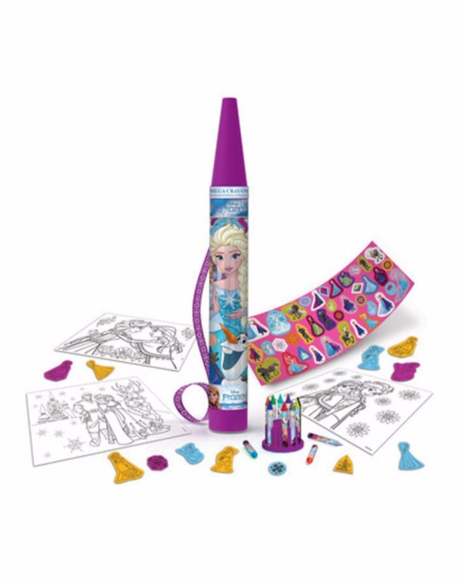 Mega Crayon Tapimovil Frozen Stickers Todo Para Colorear - $ 609,00 ...