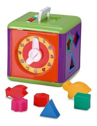 mega cubo de encaixar - atividades infantil bebe elka