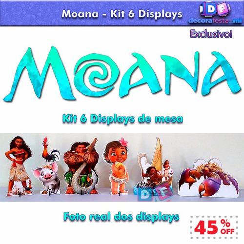 mega desconto kit 6 display moana mdf poucas unidades lindo*
