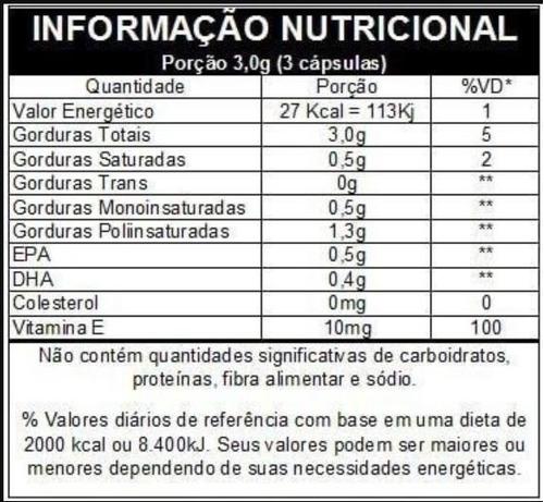 mega dha + epa vitafor ômega 3 óleo de peixe 120 cápsulas