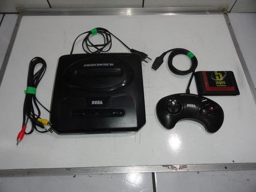 mega drive 3 console p/ sega cd fonte interna jogos top c02