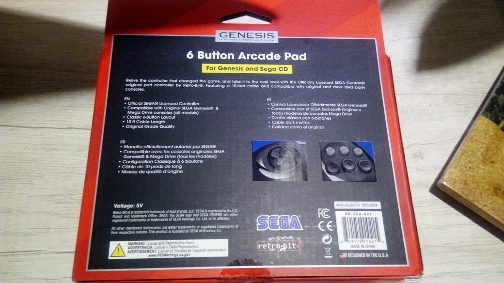 Controle Mega Drive 6 Botões