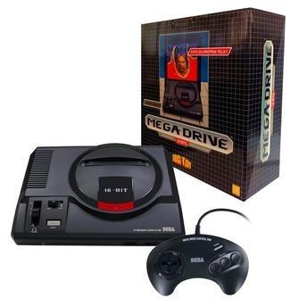 mega drive +joystick + cartão sd com 22 jogos