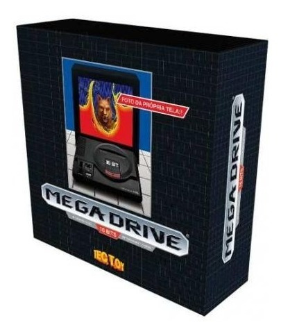 mega drive tec toy, 1 controle, 22 jogos na memória