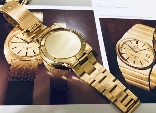 ômega dynamic ouro maciço completo estojo e nota fiscal