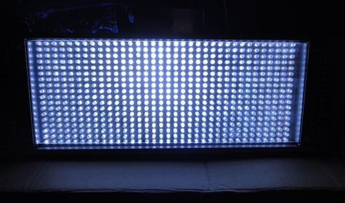 mega estrobo 630 leds blanco ultra brillante, alta potencia