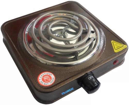 mega estufa electrica potente fogon 1 puesto camping 1000w