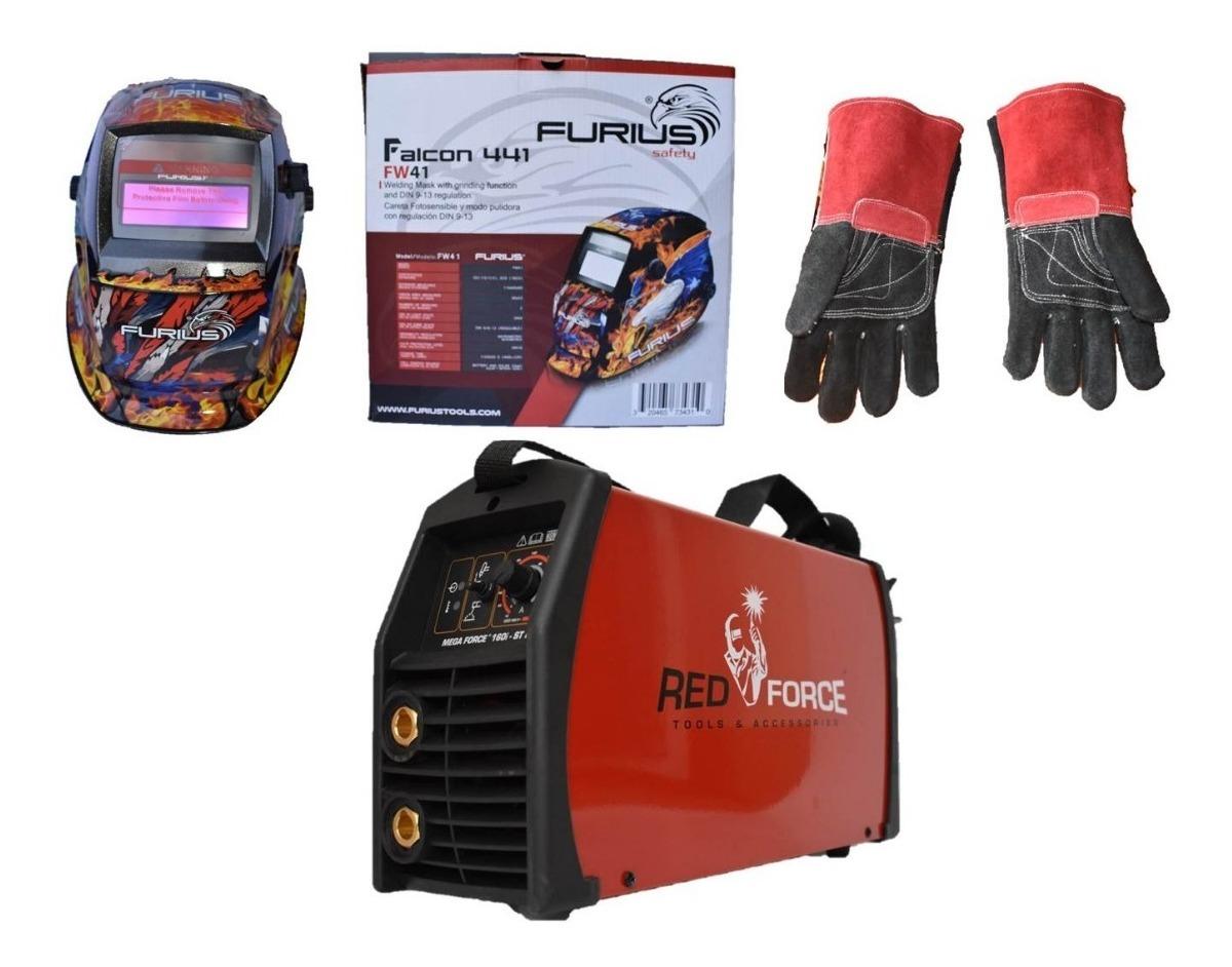 Mega Force 160i Lincoln Electric Stick Y Tig Doble Voltaje Con Careta Furius Y Guantes De Carnaza 8 995 00 En Mercado Libre