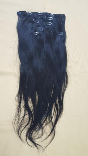 mega hair cabelo 100% humano 100g, com tic tac 7 peças preto