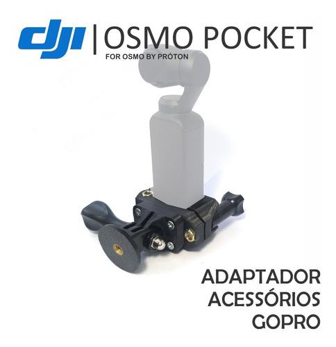 mega kit 4 em 1 osmo pocket - suportes adaptadores e led