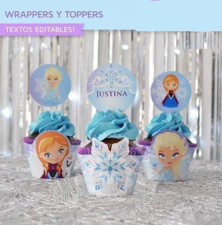 mega kit frozen para mesa de dulces invitacion cajas