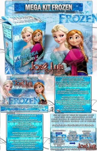 mega kit imprimible 100% editable frozen regalos jose luis