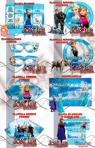 mega kit imprimible 100% editable frozen regalos jose luis