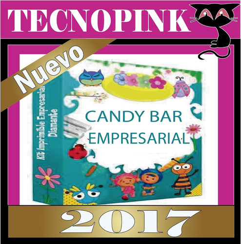 mega kit imprimible candy bar golosinas fiesta +regalo