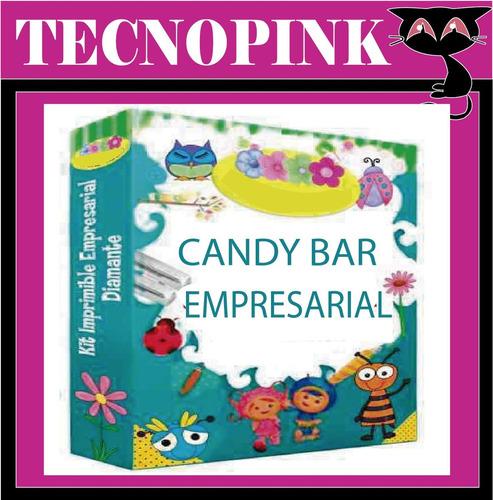 mega kit imprimible candy bar +mega kit invitaciones(2 en 1)