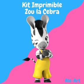 Mega Kit Imprimible Completo Zou La Cebra Candy Bar