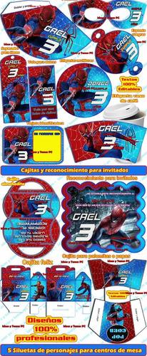 mega kit imprimible el hombre araña spider man cotillon