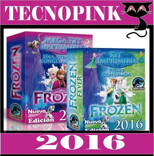 mega kit imprimible frozen fever +candy bar+ photobooth+2x1