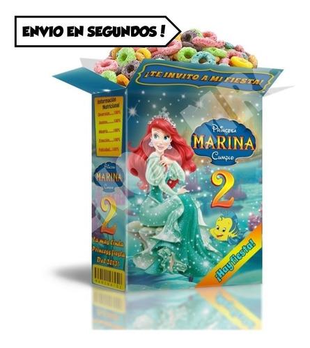 mega kit imprimible sirenita cumpleaños infantil cotillón